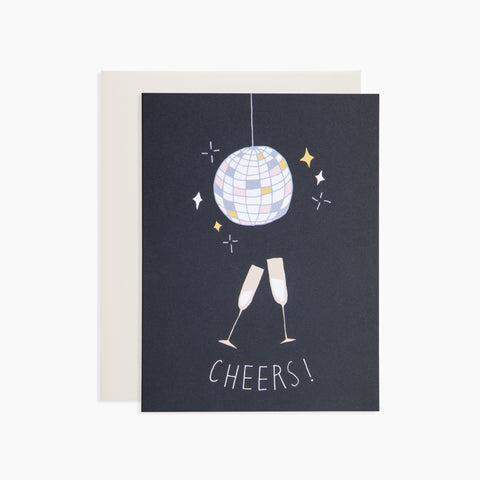 Disco Ball Cheers Card