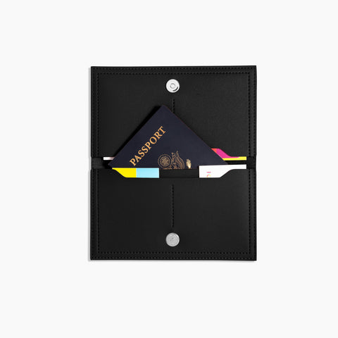 Minimalist Travel Wallet Inside Black