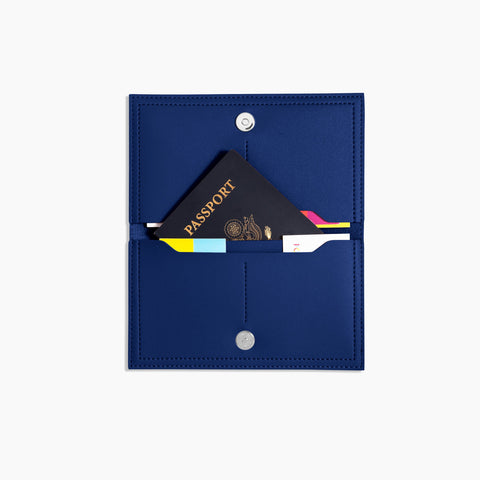 Minimalist Travel Wallet Inside Cobalt