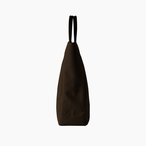 Essential Tote in Brown side