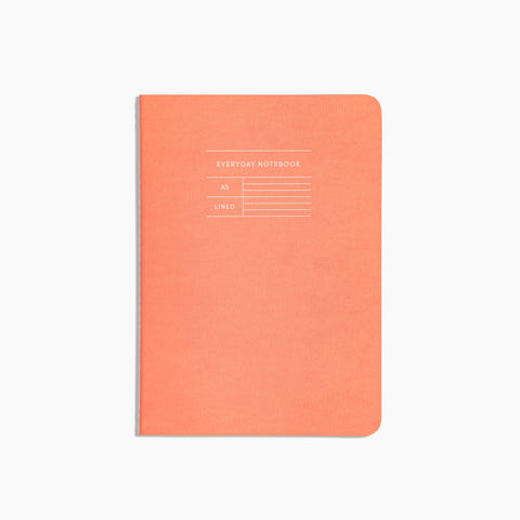 Everyday Notebook in Lined Orange