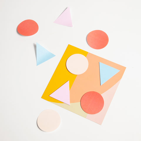 Geometric Stickies Sticky Notes in Warm