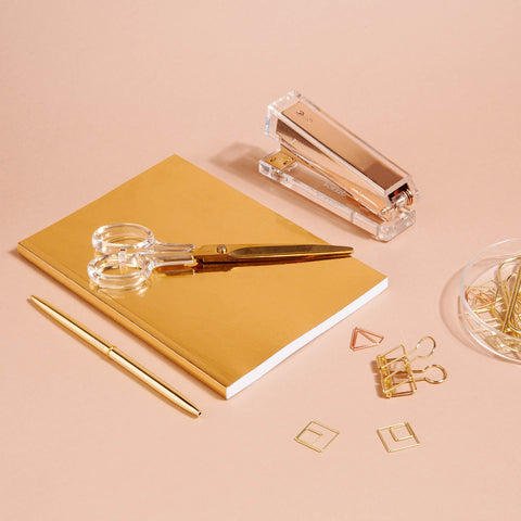 Lucite Stapler in Gold