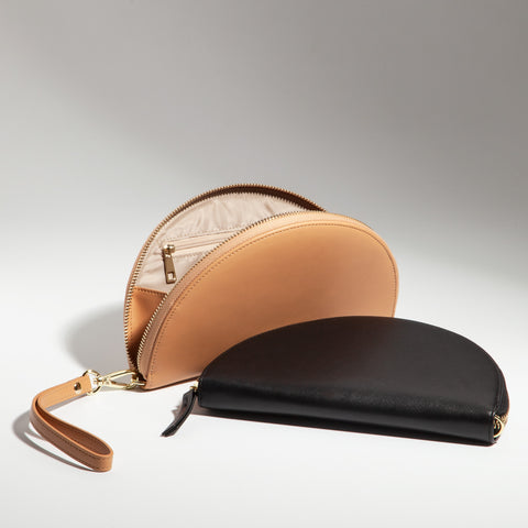 Half Moon Clutch in Tan