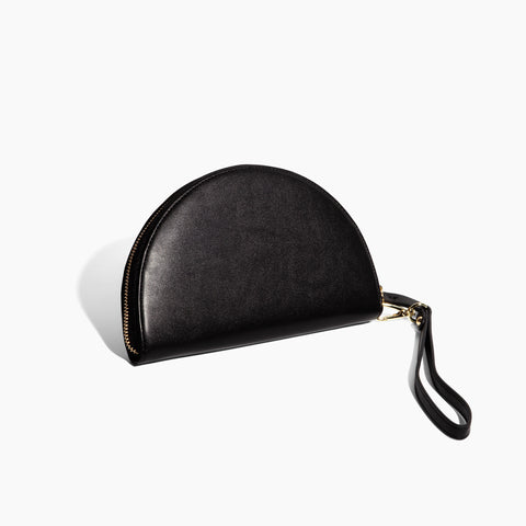 Half Moon Clutch in Black