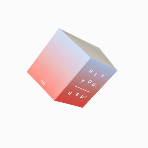 Hey You, HBD Card Red Blue Gradient