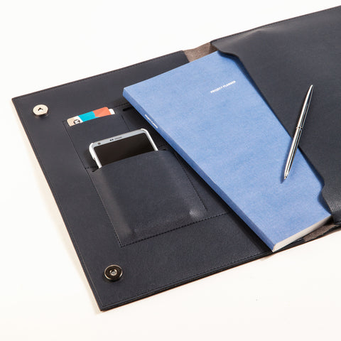 Large Minimalist Folio in Navy 13