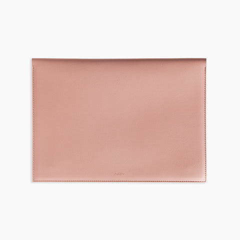 "Large Minimalist Folio Blush 13"" Laptop Organizer"
