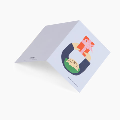 gift little something greeting card green blue orange