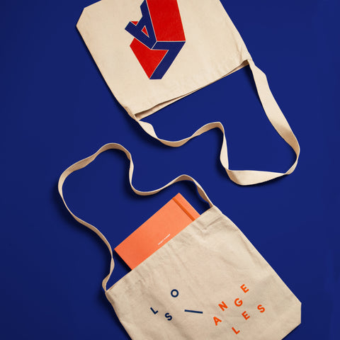 LA Totes on Blue Background
