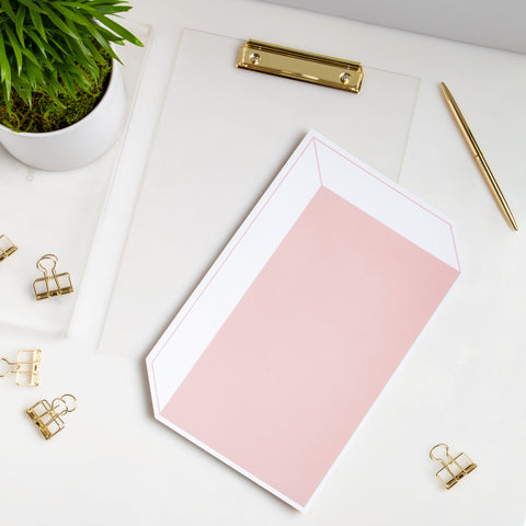 Lucite Clipboard with Rose Box Desk Pad