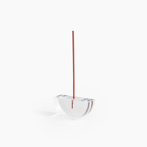 Lucite Incense Holder in Boat