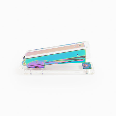 Lucite Stapler in Iridescent
