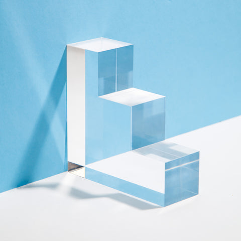 Lucite Bookends Set in Step