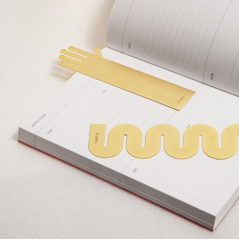Brass Bookmarks in Hand and Wave Shapes