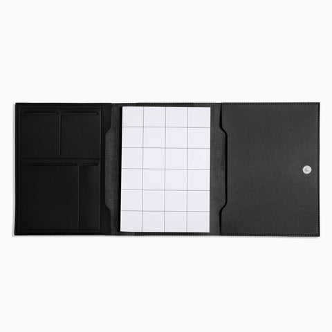 Medium Minimalist Folio V2 in Black