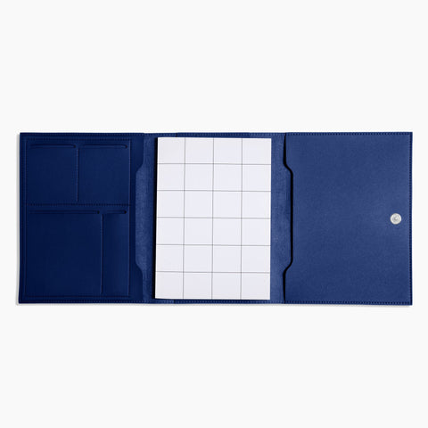 Medium Minimalist Folio V2 in Cobalt