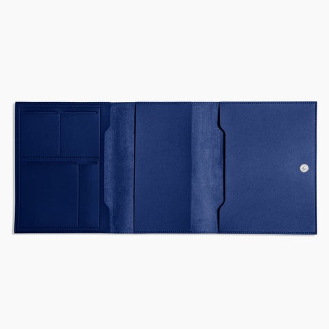 Medium Minimalist Folio V2 in Cobalt Open