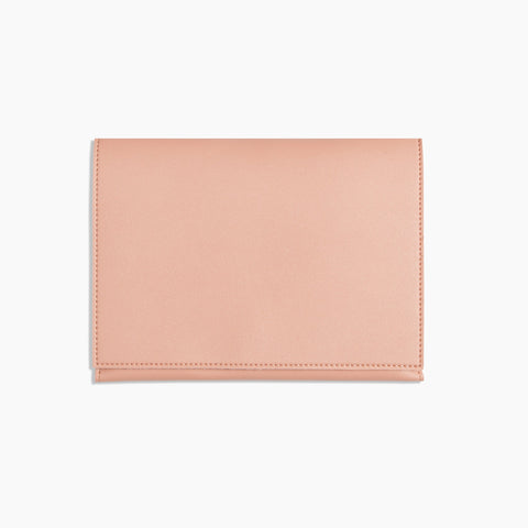 Medium Minimalist Folio V2 in Blush Front Closed