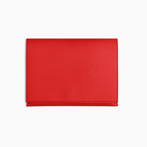 Medium Minimalist Folio V2 in Red Closed Front