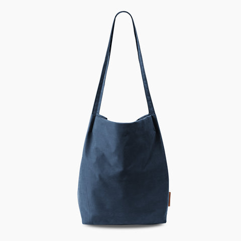 minimal tote tencel navy blue shoulder bag