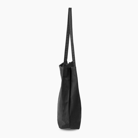 minimal tote tencel black shoulder bag