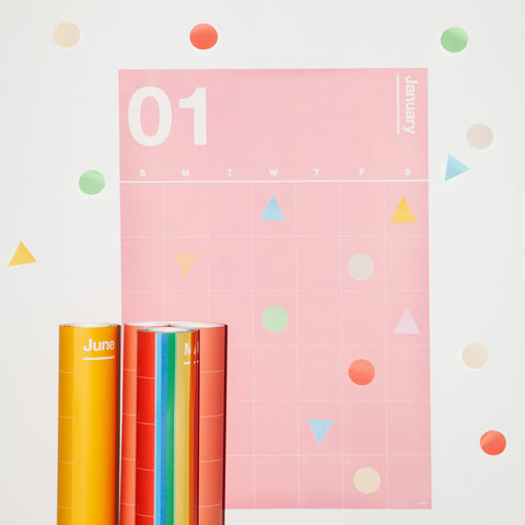 Geometric Sticky Notes on Spectrum Wall Planner