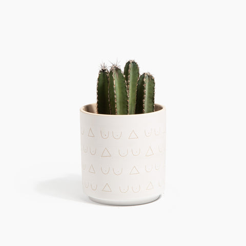 Medium Mujer Pot Cream Ceramic