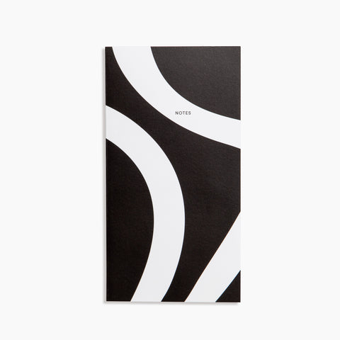 Folio Notebook in Curves Black White