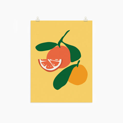 Orange Citrus Print Poster Wall Decor