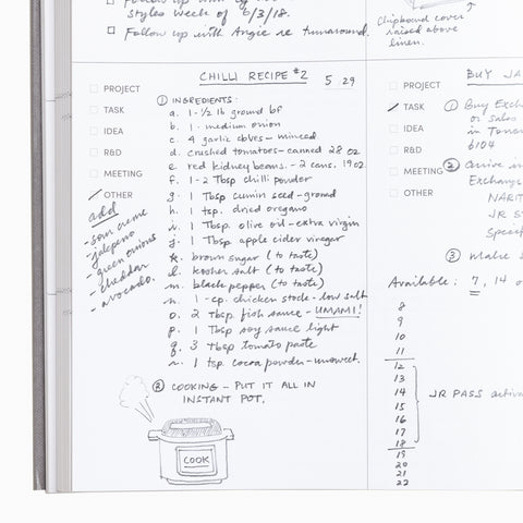Project Planner Notes Page