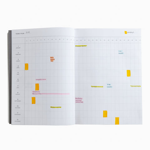 concept planner clay calendar neutral pink