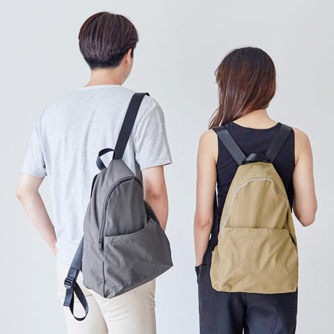 Packable Backpack in Charcoal