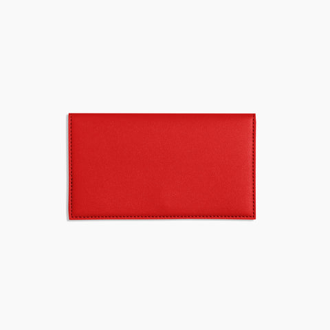 Minimalist Travel Wallet Red