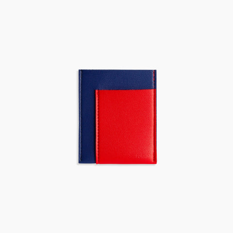 Pocket Wallet in Cobalt/Red