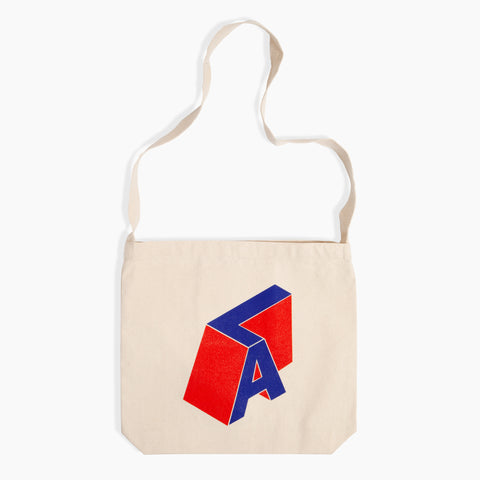 LA Block Tote Red Blue