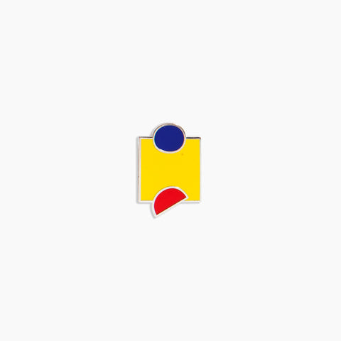 Primary Shapes Pin Blue Red Yellow