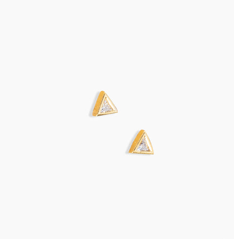 Sparkle Pyramid Earrings