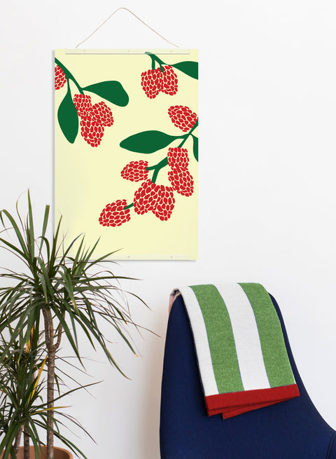 Raspberry Print wall decor