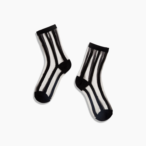 Poketo Sheer Sock in Blank Stripe Lines