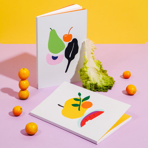 Simple Lined Notebook in Watermelon