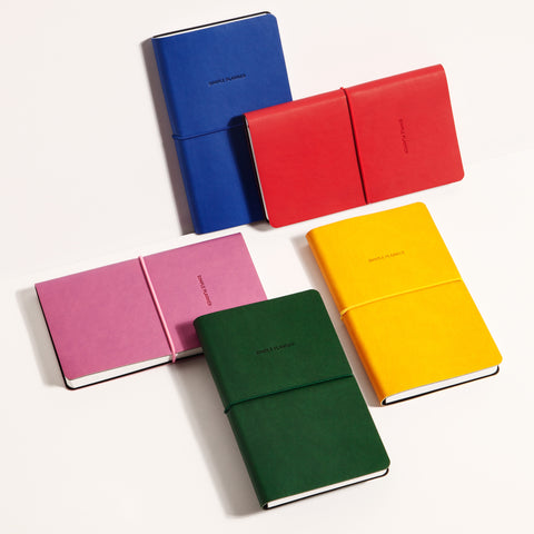 Simple Planners Green Cobalt Fuchsia Gold Midnight Red