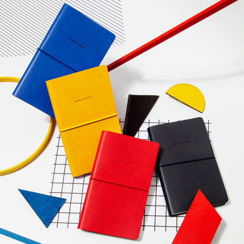 Simple Planner Black Blue Red Yellow