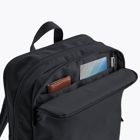 Simple Minimalist Black Backpack