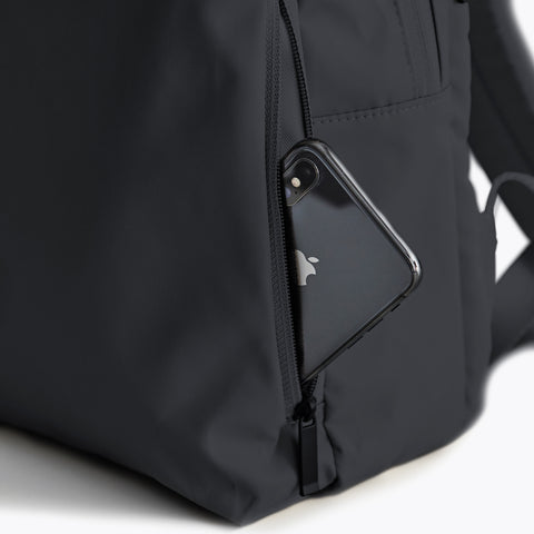 Simple black Minimalist Backpack