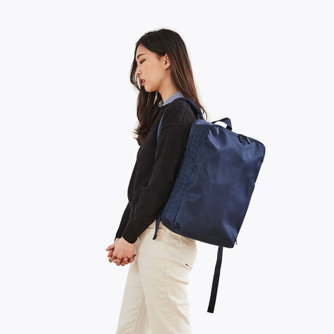 Simple Minimalist Blue Backpack