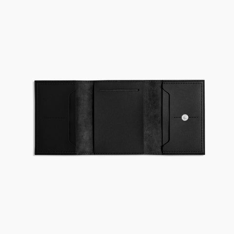Small Minimalist Folio V2 in Black Open