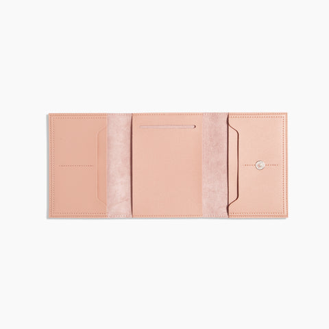 Small Minimalist Folio V2 in Blush Open
