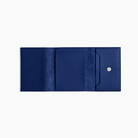 Small Minimalist Folio V2 in Cobalt Open