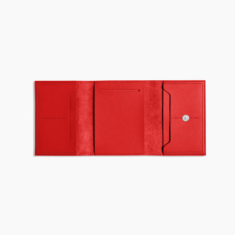 Small Minimalist Folio V2 in Red Open